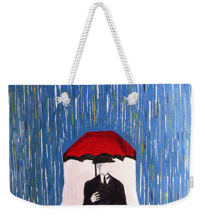 The Prisoner Weekender Tote Bag featuring the painting The Prisoner by Michael Tokarski