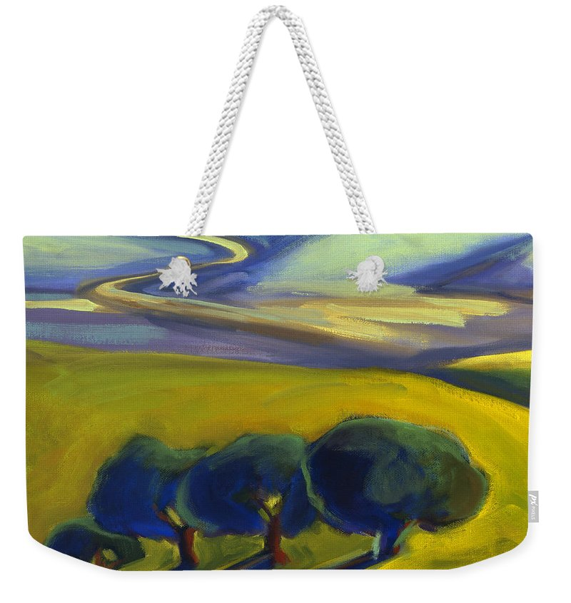 California Weekender Tote Bag featuring the painting The Promise 2 by Konnie Kim