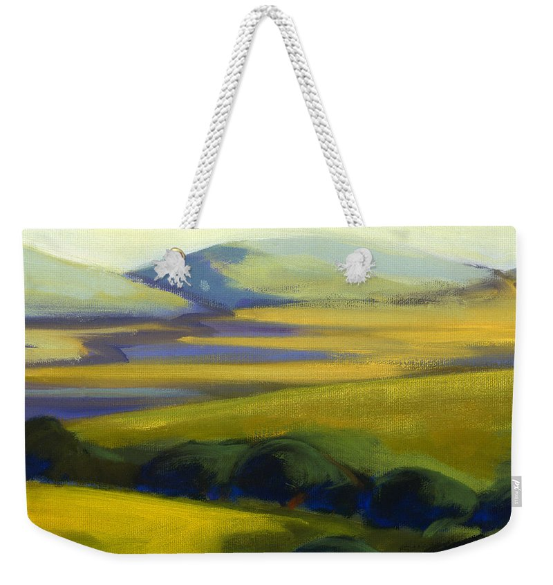 California Weekender Tote Bag featuring the painting The Promise 4 by Konnie Kim