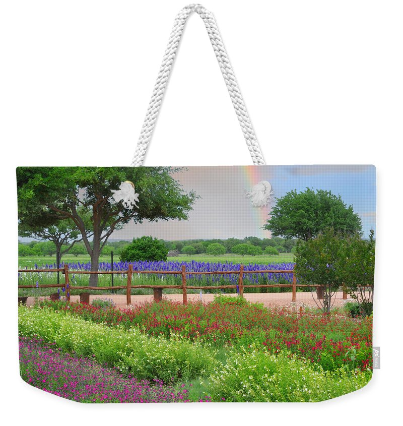 Flower Weekender Tote Bag featuring the photograph The Promise Of Spring by Lynn Bauer