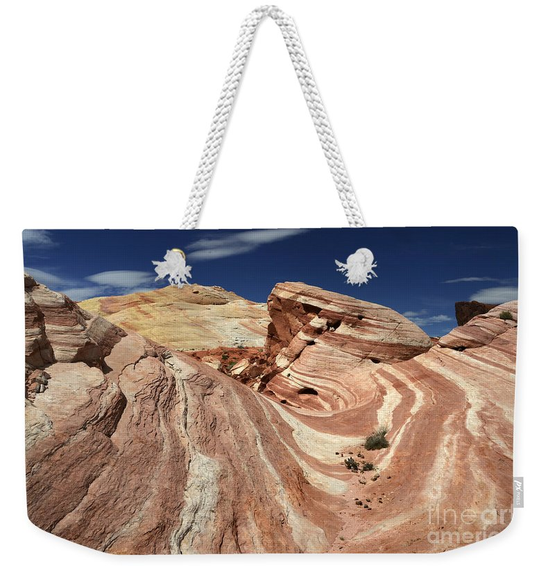 Valley Of Fire Weekender Tote Bag featuring the photograph The Purple Wave 2 by Bob Christopher