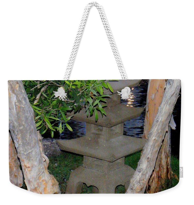 Garden Weekender Tote Bag featuring the photograph The Quiet Of Evening by Mary Deal