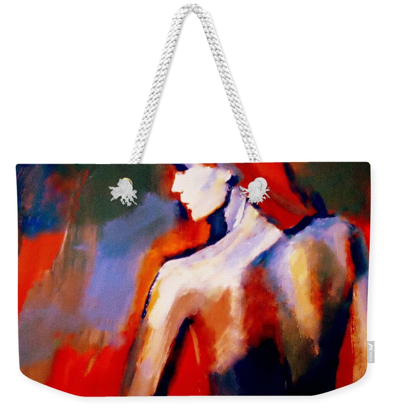 Nude Figures Weekender Tote Bag featuring the painting The Radical Lack by Helena Wierzbicki