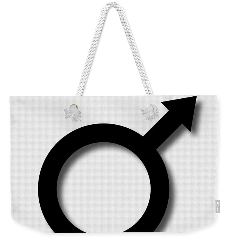 Naked Sex Symbol Weekender Tote Bag featuring the photograph The Raw Picture Of A Naked Sex Symbol No2 by Weston Westmoreland