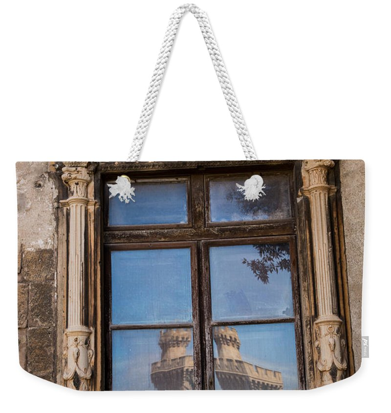 Architecture Weekender Tote Bag featuring the photograph The Reflecting Castle by Rene Triay Photography