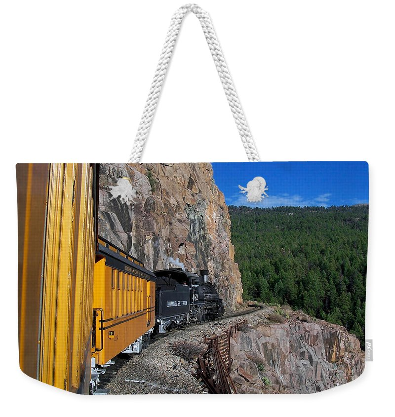 Durango Weekender Tote Bag featuring the photograph The Ride by Ernie Echols