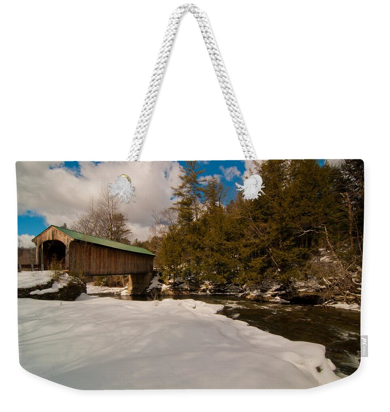 Landscape Weekender Tote Bag featuring the photograph The Right Path by Scott Hafer