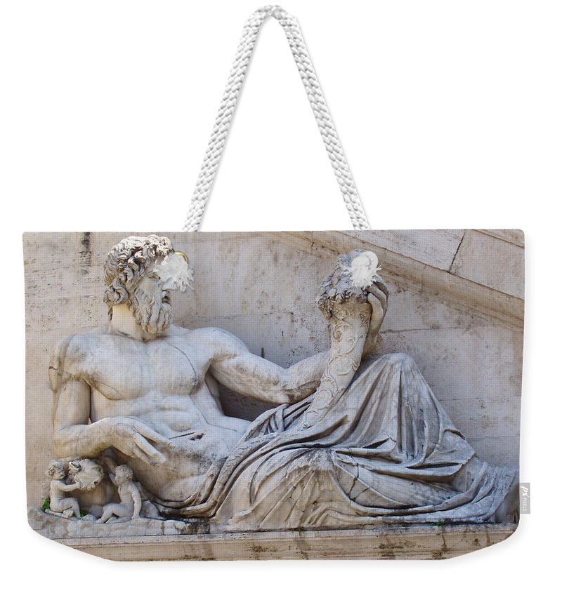 The Tiber Weekender Tote Bag featuring the photograph The Tiber by Ellen Henneke