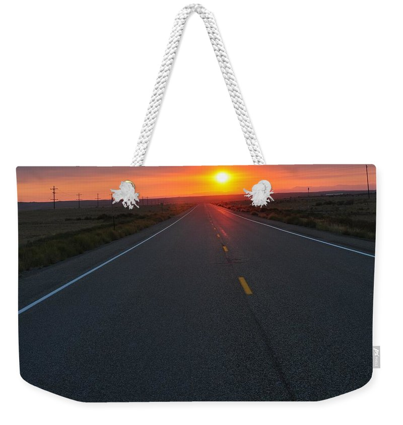 Idaho Falls Weekender Tote Bag featuring the photograph The Road Less Traveled by Image Takers Photography LLC - Laura Morgan