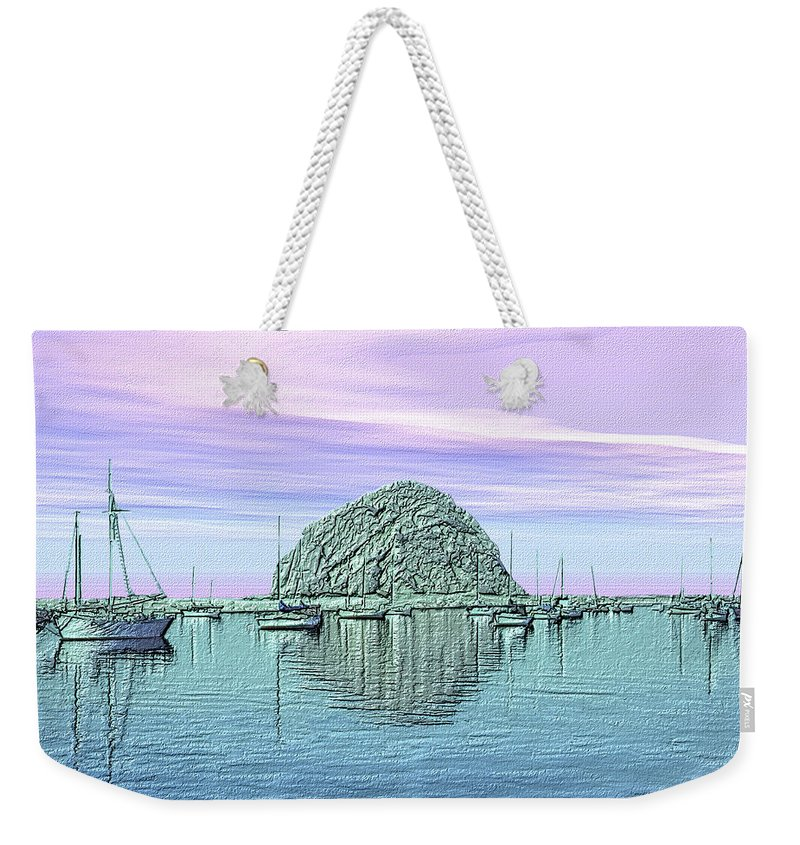 Seascape Weekender Tote Bag featuring the photograph The Rock by Kurt Van Wagner