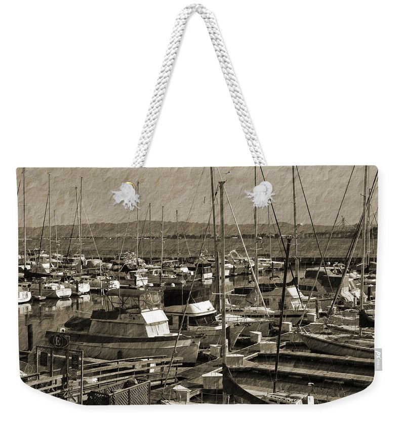 Harbor Weekender Tote Bag featuring the photograph The Sailing Pier by Holly Blunkall