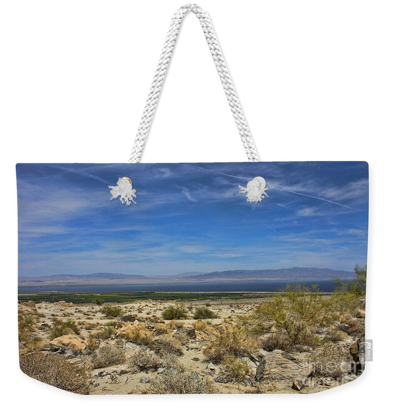 Salton Sea Weekender Tote Bag featuring the photograph The Salton Sea by Tommy Anderson