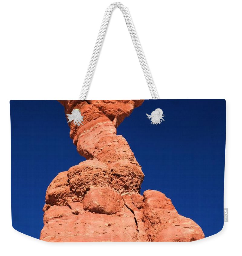 Fisher Towers Weekender Tote Bag featuring the photograph The Serpent Hoodoo by Adam Jewell