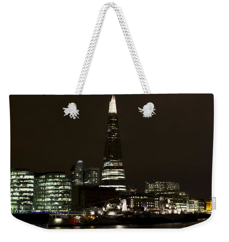 Shard Weekender Tote Bag featuring the photograph The Shard And Southbank London by David Pyatt