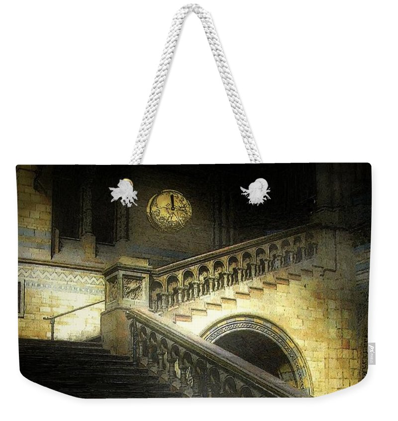 Architecture Weekender Tote Bag featuring the painting The Shoe Forgotten by RC DeWinter