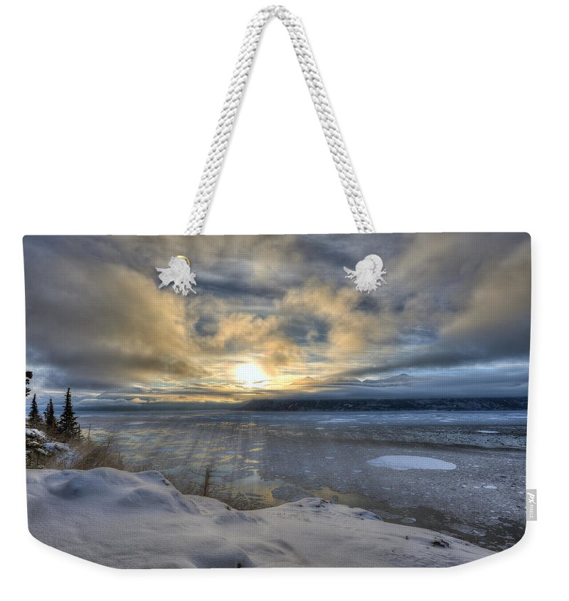 Solstice Weekender Tote Bag featuring the photograph The Shortest Day by Ted Raynor