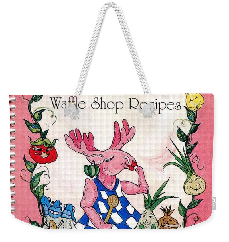 Graphics Weekender Tote Bag featuring the mixed media The Shrimp Moose And Other Waffle Shop Recipes Cookbook Calvary Church Memphis Tn by Lizi Beard-Ward