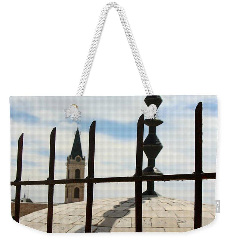 Jerusalem Weekender Tote Bag featuring the photograph The Siege In Jerusalem by Munir Alawi