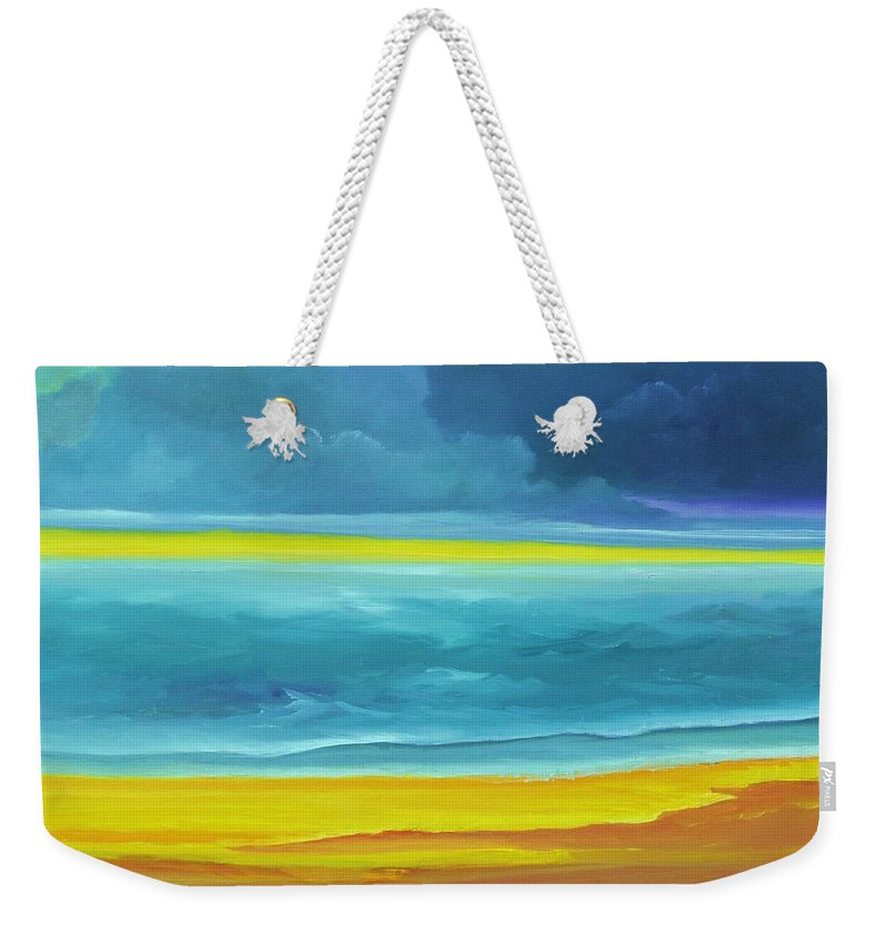 Alicia Maury Painting Weekender Tote Bag featuring the painting The Silent Sea by Alicia Maury