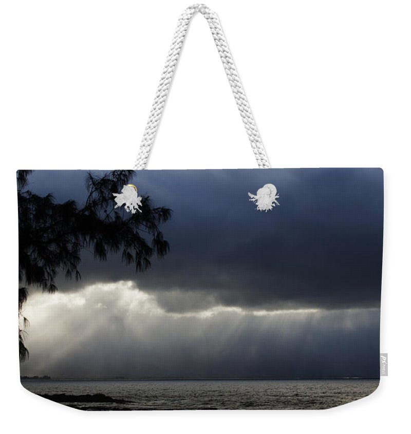 Clouds Weekender Tote Bag featuring the photograph The Silver Lining by Edward Hawkins II