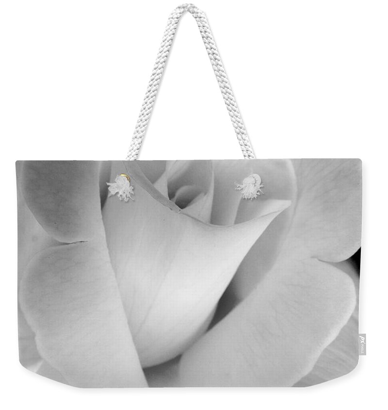 Rose Weekender Tote Bag featuring the photograph The Silver Rose In Portrait by Jennie Marie Schell