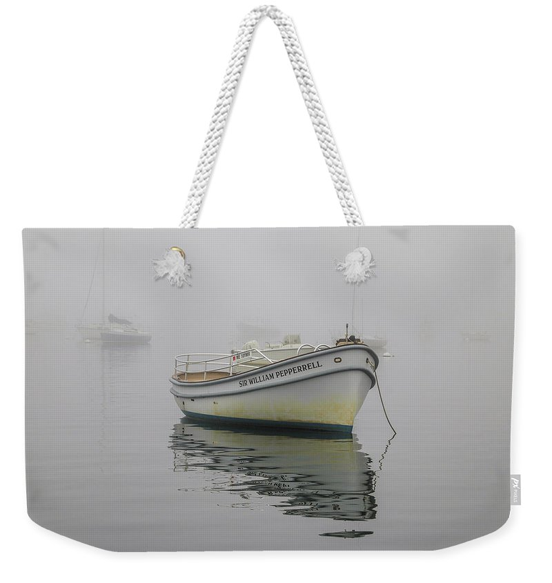 Pepperrell Cove Weekender Tote Bag featuring the photograph The Sir Willliam Pepperrell by David Stone