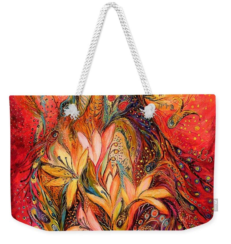 Original Weekender Tote Bag featuring the painting The Sirocco by Elena Kotliarker