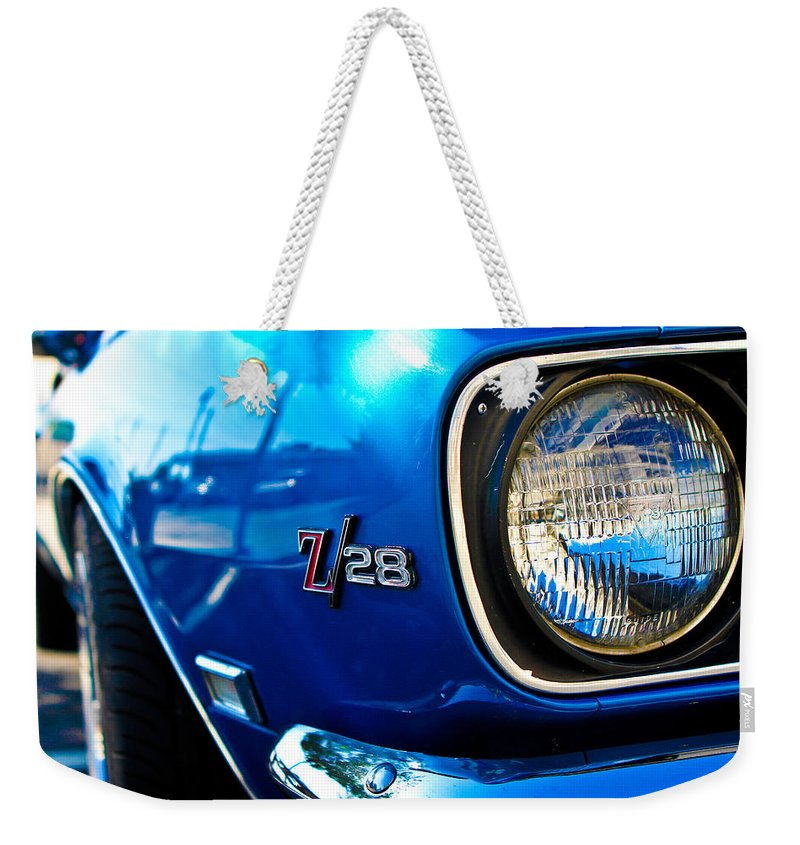 Classic Cars Weekender Tote Bag featuring the photograph The Six Eight by Digital Kulprits