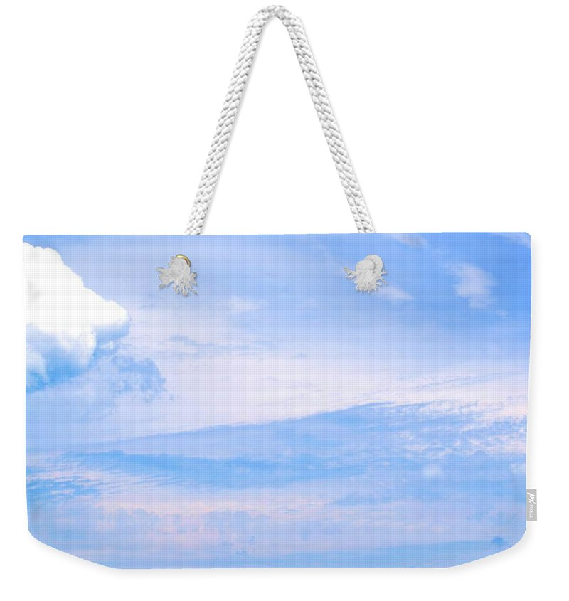 Sky Weekender Tote Bag featuring the photograph The Sky's The Limit by Tara Potts
