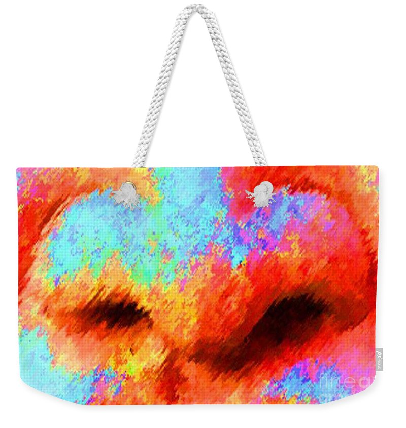 Nose Weekender Tote Bag featuring the painting The Smell Of Color by Jost Houk