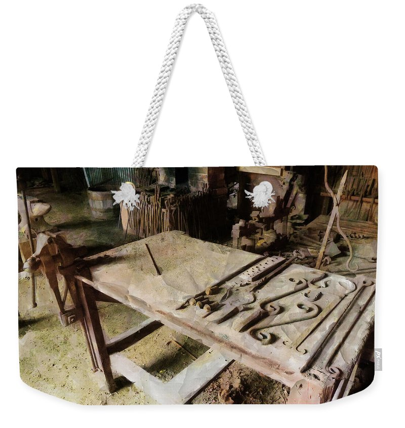 Blacksmith Weekender Tote Bag featuring the photograph The Smith by Steve Taylor