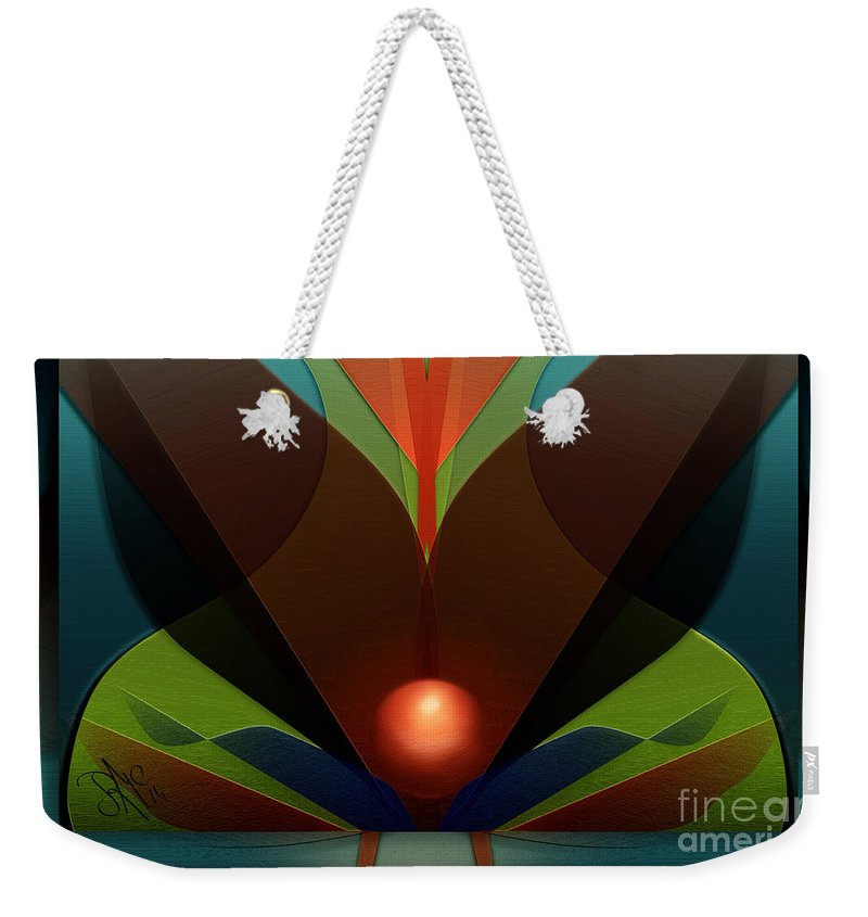 Sphere Weekender Tote Bag featuring the digital art The Soul Vase by Rosa Cobos