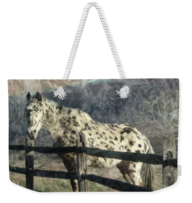 Horse Weekender Tote Bag featuring the photograph The Speckled Horse by Trish Tritz