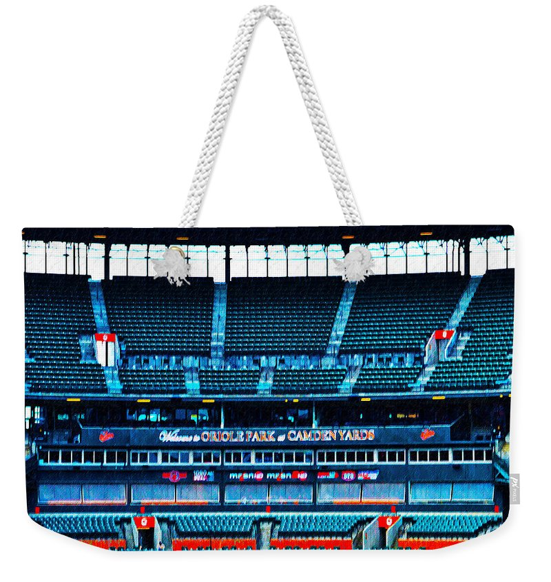 Stands Weekender Tote Bag featuring the photograph The Stands At Oriole Park by Bill Cannon