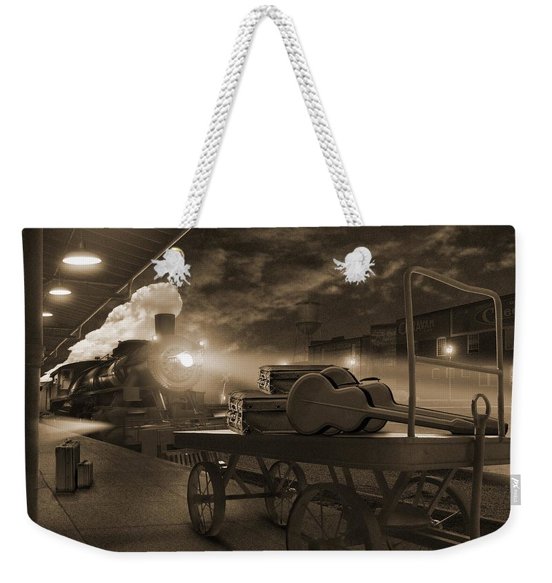 Transportation Weekender Tote Bag featuring the photograph The Station 2 by Mike McGlothlen