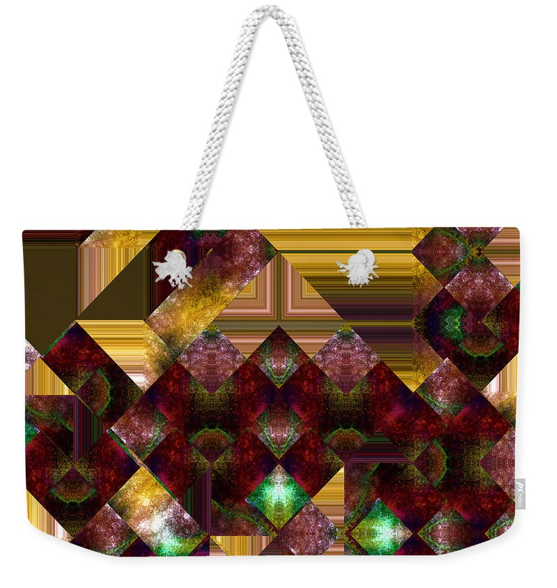 Abstract Weekender Tote Bag featuring the painting The Sublimation Of Desire by RC DeWinter