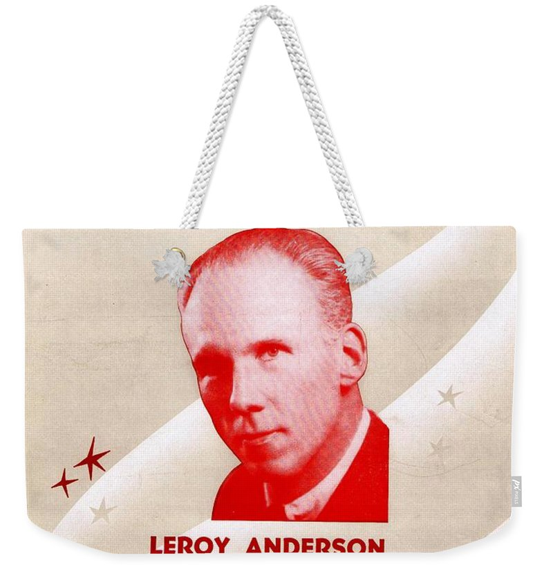 Nostalgia Weekender Tote Bag featuring the photograph The Syncopated Clock by Mel Thompson