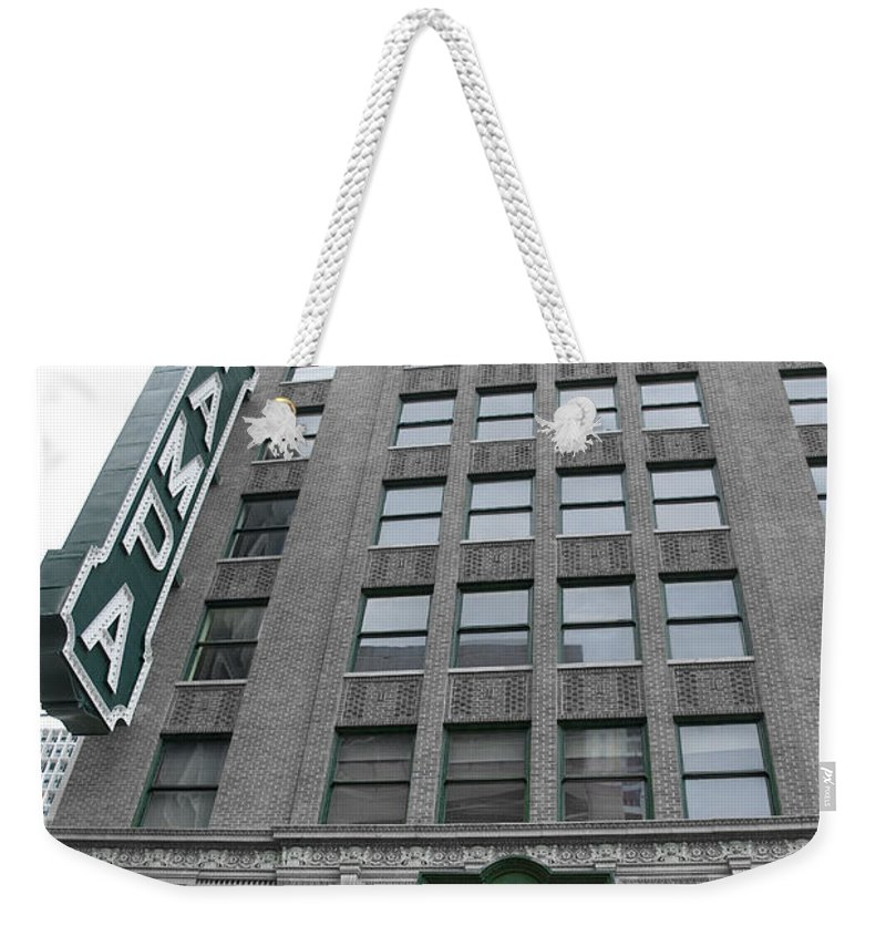Vintage Weekender Tote Bag featuring the photograph The Tampa Theatre by Beverly Stapleton