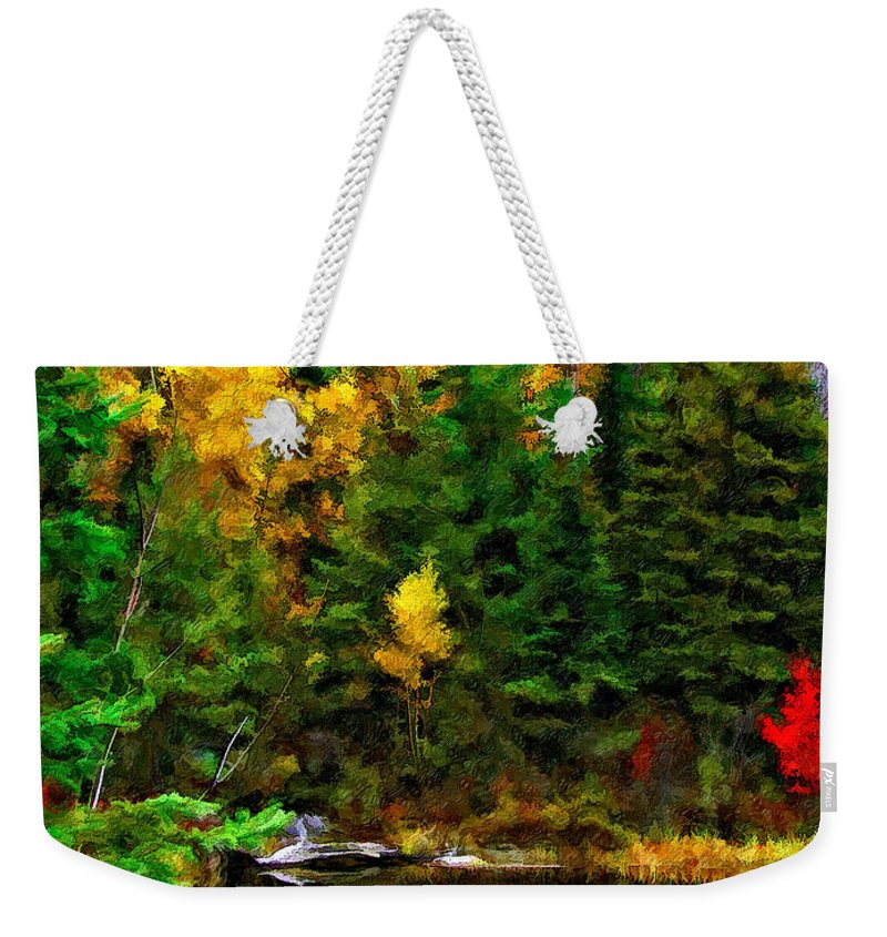 Wilderness Weekender Tote Bag featuring the photograph The Tarn Paint Version by Steve Harrington