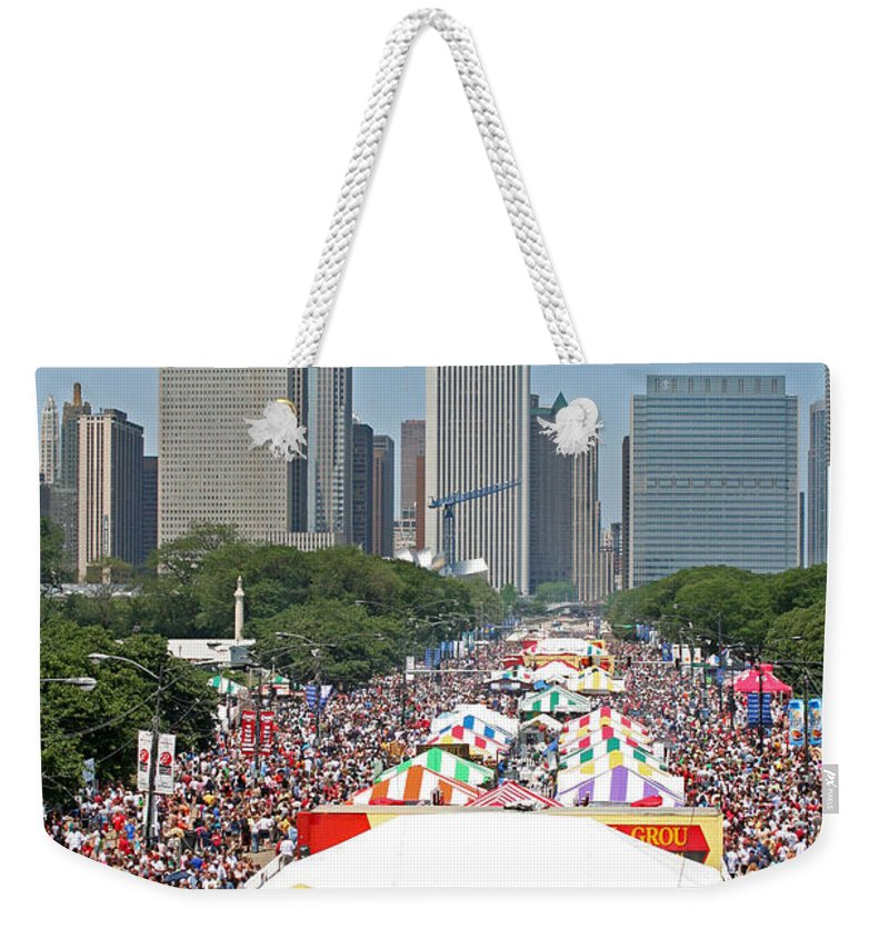 Taste Of Chicago Weekender Tote Bag featuring the photograph The Taste by Sheryl Chapman Photography
