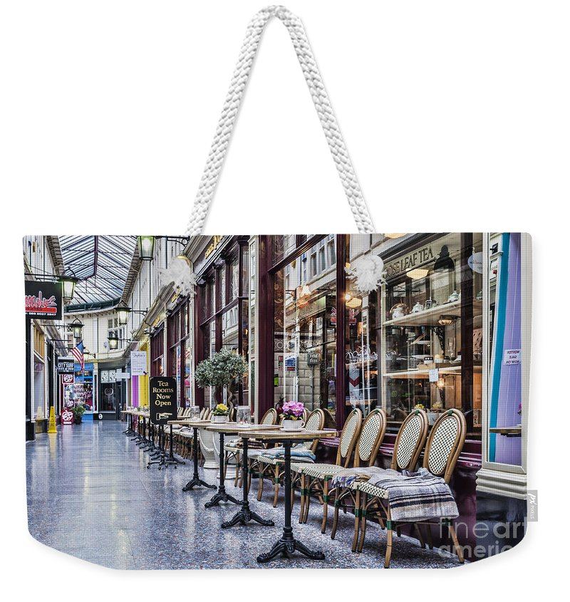 High Street Arcade Cardiff Weekender Tote Bag featuring the photograph The Tea Room by Steve Purnell