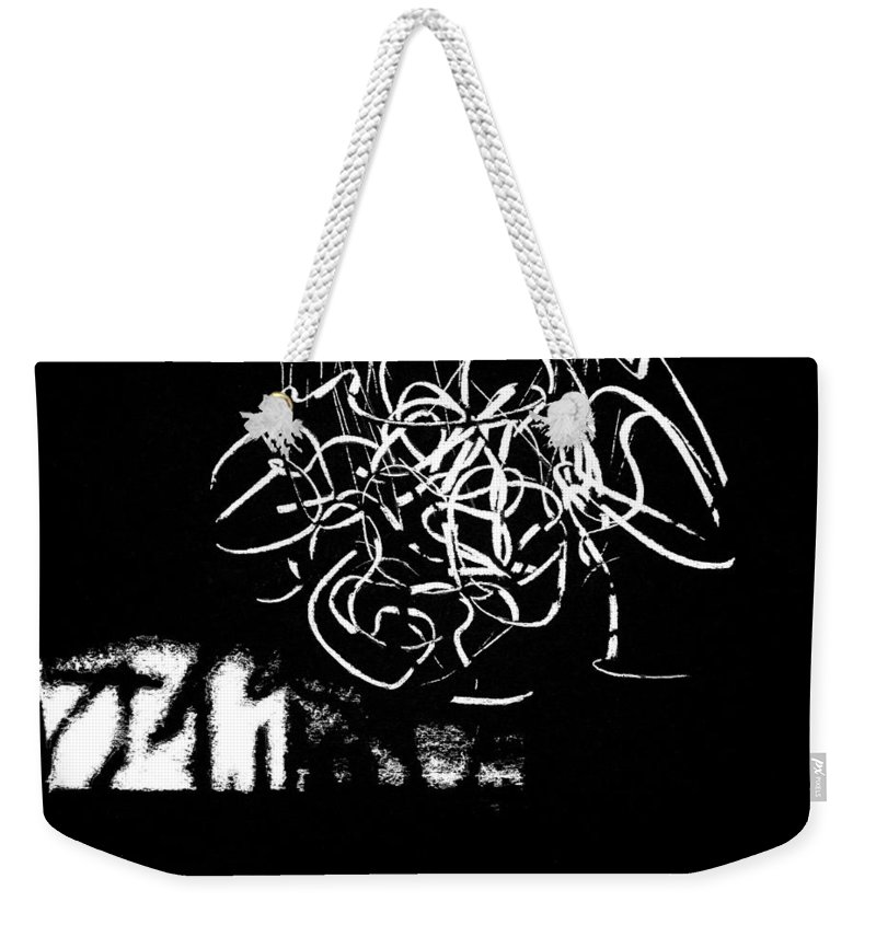 All Weekender Tote Bag featuring the drawing The Thing by Iliyan Bozhanov