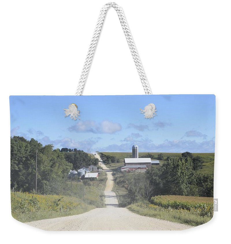 Dirt Road Weekender Tote Bag featuring the photograph The Third Season by Bonfire Photography