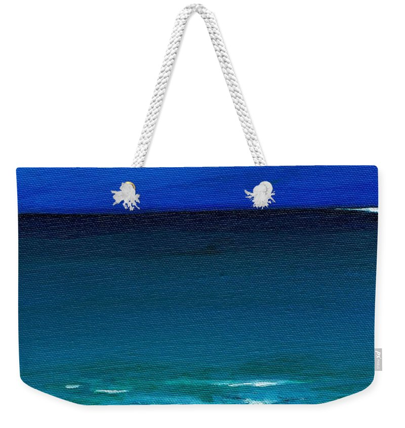 Seashore Weekender Tote Bag featuring the painting The Tide Coming In by Frances Marino