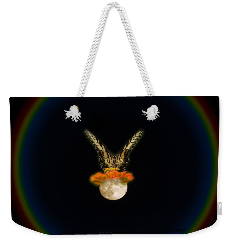 Moon Weekender Tote Bag featuring the photograph The Tiger Has Landed by Donna Brown