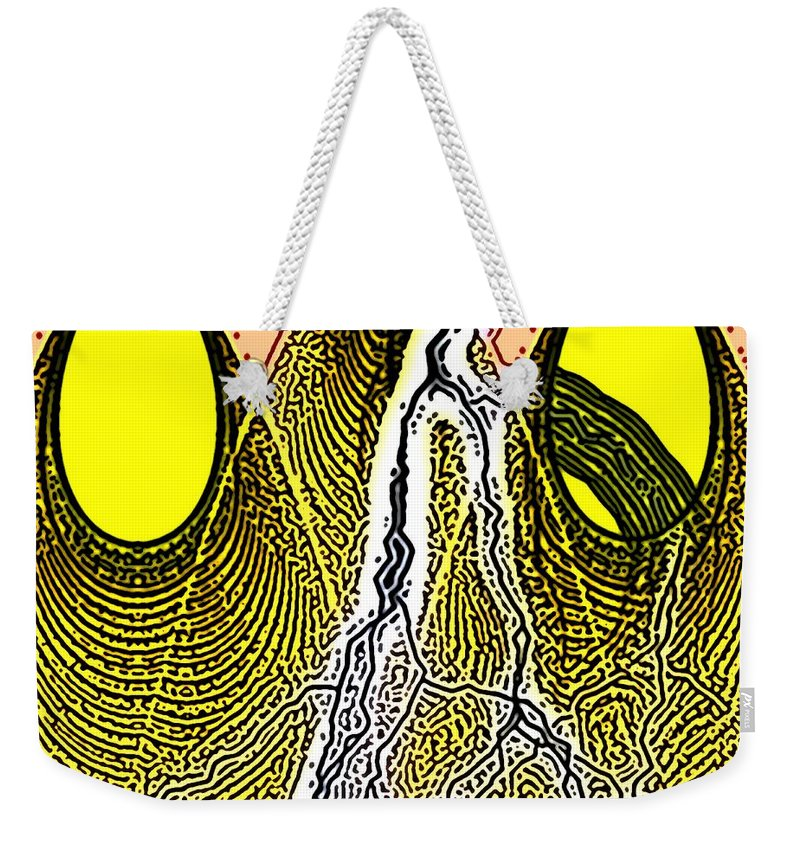 Abstract Art Weekender Tote Bag featuring the digital art the Toothache by George Pedro