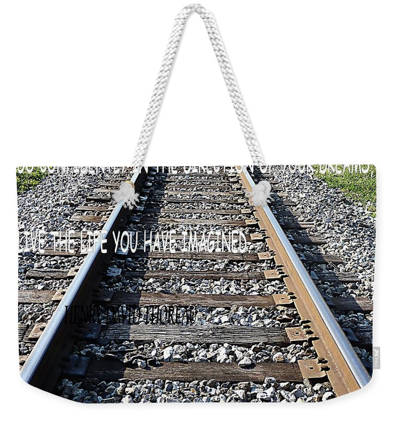 Weekender Tote Bag featuring the photograph The Tracks by Anthony Walker Sr