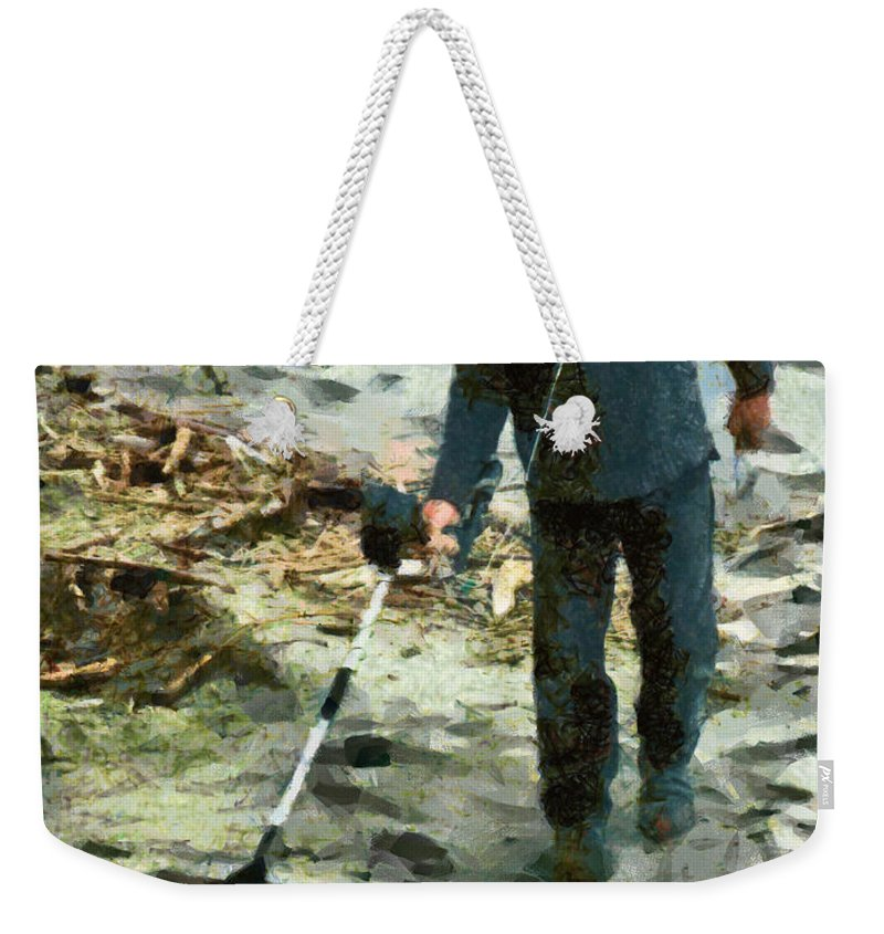 Buried Treasure Weekender Tote Bag featuring the photograph The Treasure Hunter by Steve Taylor