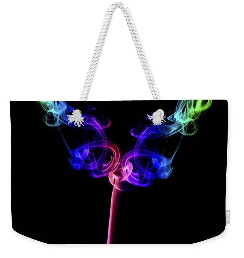 Smoking Trails Weekender Tote Bag featuring the photograph The Tulip by Steve Purnell