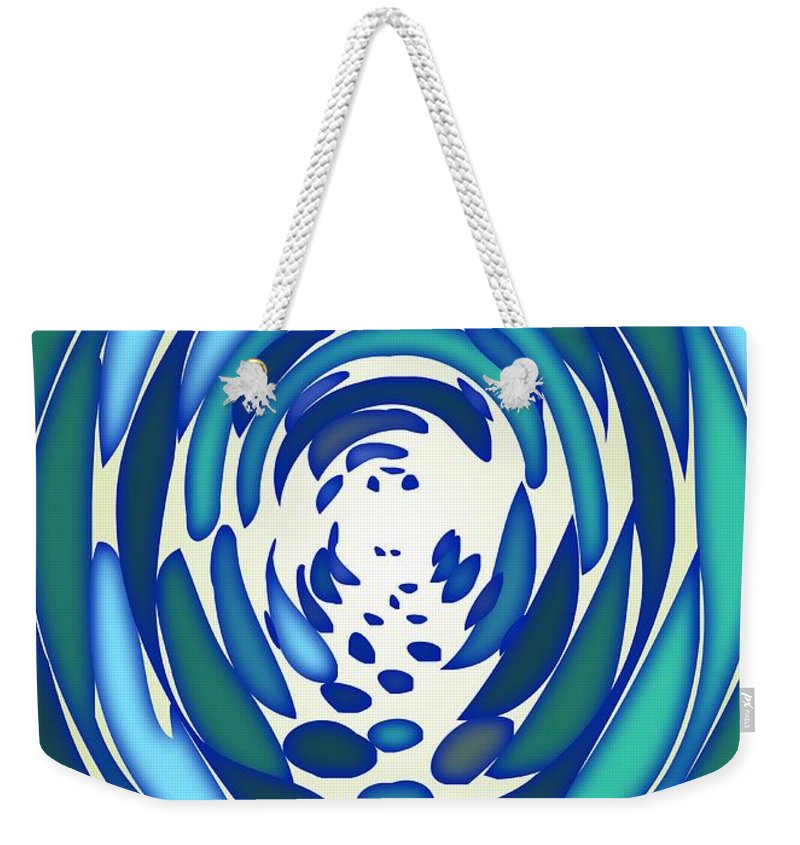 Abstract Weekender Tote Bag featuring the digital art The Tunnel by Anastasiya Malakhova
